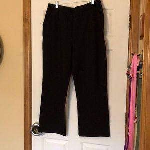 Black 1X knit dress pants